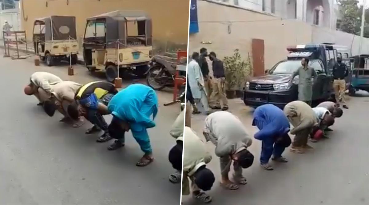 Coronavirus Lockdown in Pakistan: Officials in Karachi Make Loiters in Street Do Sit-Ups as Punishment; Watch Video