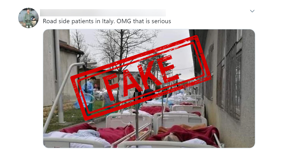 Fact Check: Coronavirus Patients in Italy Lying on Hospital Beds and Treated Roadside? Know Truth Behind Photos From Earthquake in Croatia