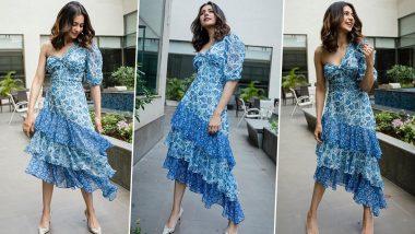 Yo or Hell No? Rakul Preet Singh's Blue Printed Dress by Hemant & Nandita