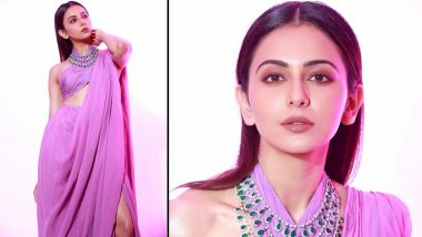 Rakul Preet Singh Gives the Six Yard an Alluring Update With a Lavender-Toned Conceptual Saree by Shehlaa Khan, We Are Dazed!