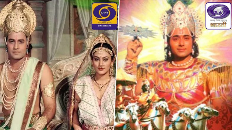 Ramayan on DD National and Mahabharat on DD Bharati, Here's The Schedule and Telecast Time for The Ramanand Sagar and BR Chopra Mythological Shows on Doordarshan Channels