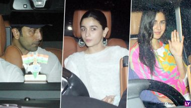 Alia Bhatt, Ranbir Kapoor, Katrina Kaif Arrive To Celebrate at Aarti Shetty's Holi 2020 Bash (View Pics)