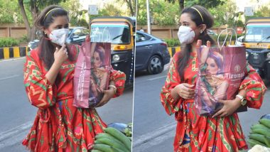 Rashami Desai Wears a Mask and Goes Grocery Shopping Amid the Coronavirus Outbreak (Watch Video)