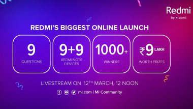 Redmi's Biggest Online Launch: Here's How To Win 9+9 Redmi Note Devices, Prizes Worth Rs 9 Lakh