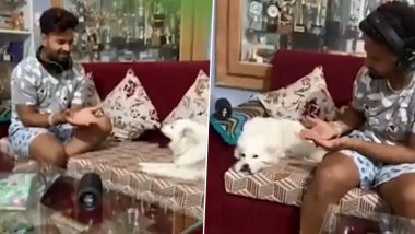 Rishabh Pant's Failed Attempt to Play With His Pet Dog Kuuchi Will Leave You in Splits (Watch Video)