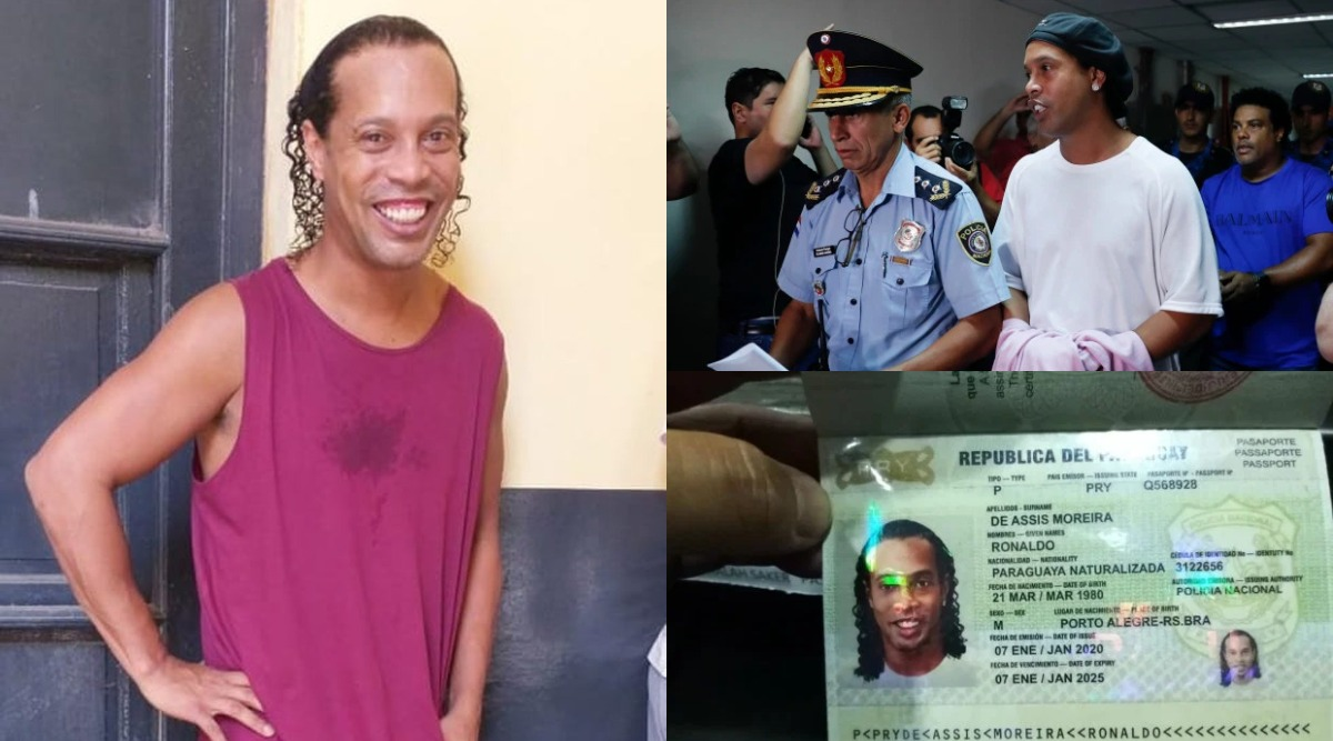 Ronaldinho in Jail Poses for Pictures and Smiles As He Gets Used to Life in Paraguayan Prison after Arrest over Possessing Fake Passport