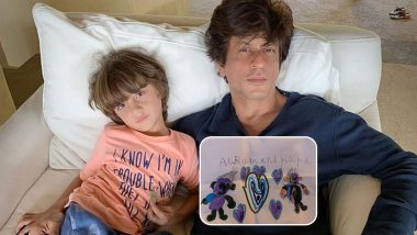 Shah Rukh Khan Is Beaming With Pride As His Little Kiddo, AbRam Draws a Cartoony Version of Him!
