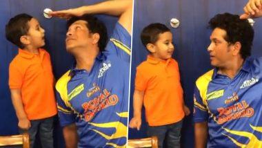 Sachin Tendulkar Plays with Irfan Pathan's Son Imran, Shares Video