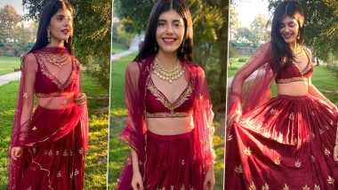 Sanjana Sanghi Is in Some Mood for Crimson Red and It's Elegant, Ethnic and Enchanting!