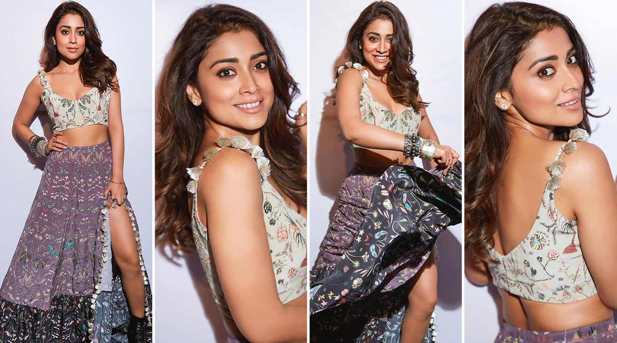 When Shriya Saran Had a Sizzling Affair With a Printed Payal Singhal Lehenga and Left Us Stoked! View Pics