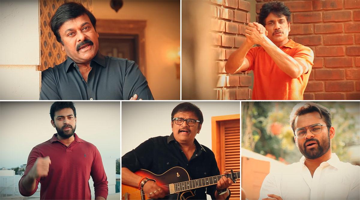 India Fights Corona: Megastar Chiranjeevi, Nagarjuna Akkineni, Sai Dharam Tej, Varun Tej Konidela Create Awareness Video to Tackle Coronavirus