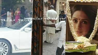 Sridevi's 2nd Death Anniversary: Janhvi Kapoor, Boney Kapoor And Other Family Members Reach Mylapore To Perform A Puja For The Late Actress (View Pics)