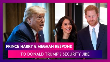 Harry And Meghan Respond To Donald Trump, Say They Have No Intention Of Asking The U.S. For Security
