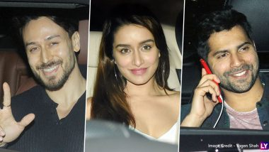 Baaghi 3 Special Screening: Varun Dhawan, Tara Sutaria Step Out To Cheer for Tiger Shroff-Shraddha Kapoor's Action Film (See Pics)
