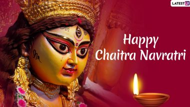 Chaitra Navratri 2020 Messages in Hindi: Download WhatsApp Stickers, GIFs, Maa Durga Images, Facebook Posts and Hike Greetings to Begin the Nine-Night Festival