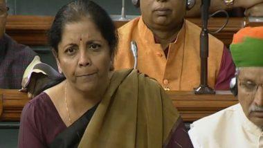 Economic Survey 2020-21 Tabled by FM Nirmala Sitharaman in Lok Sabha Ahead of Union Budget 2021