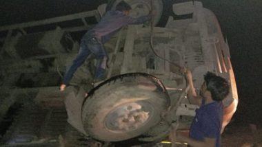 Madhya Pradesh Road Accident: 10 Killed, 20 Injured as Van Overturns in Shivpuri District