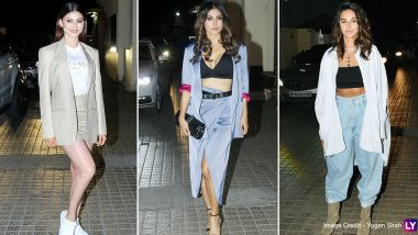 Angrezi Medium: Urvashi Rautela, Mouni Roy, Shibani Dandekar and Others Spotted At the Screening of Irrfan Khan, Kareena Kapoor Khan and Radhika Madan Starrer (View Pics)