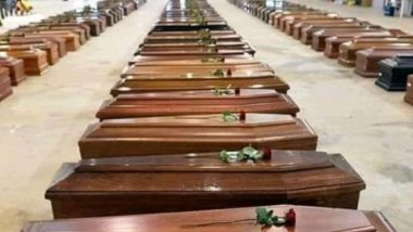 Fact Check: Viral Photo of Coffins Not Related to COVID 19 Deaths in Italy; Here's The Truth