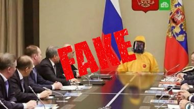 Fake Image of Vladimir Putin Wearing Hazmat Suit in Meeting With Russian Officials Goes Viral