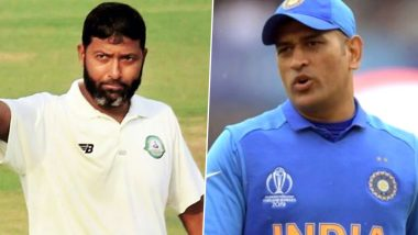 Wasim Jaffer Bats for MS Dhoni's Return in International Cricket, Says 'India Can't Look Beyond the Wicket-Keeper Batsman'