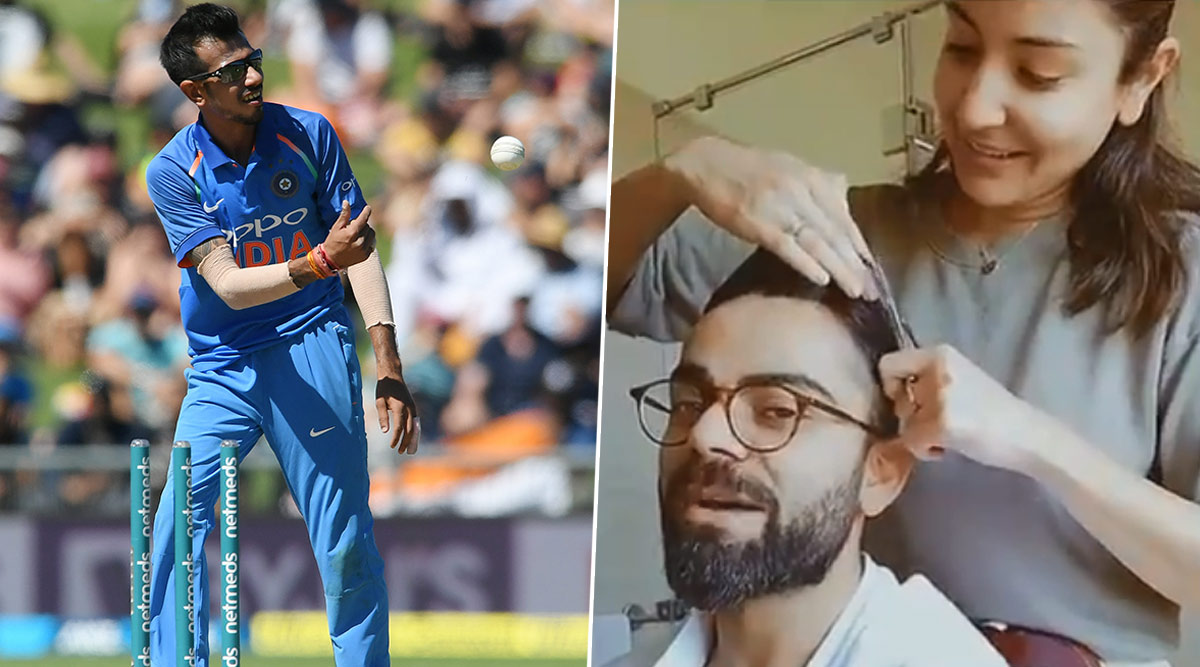 Yuzvendra Chahal Trolls Anushka Sharma for Cutting Virat Kohli's Hair With Kitchen Scissors