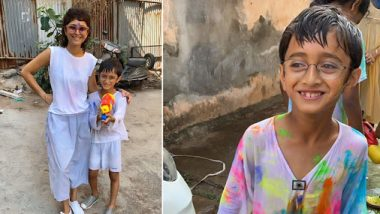 Aamir Khan Wishes A Happy Holi To All His Fans With Pictures Of Kiran Rao And Azad Playing With Colours
