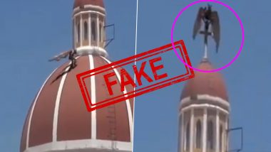 Fact Check: Bizarre-Looking Bird Caught Climbing Over Church in Italy? Know Truth About Fake Viral Video