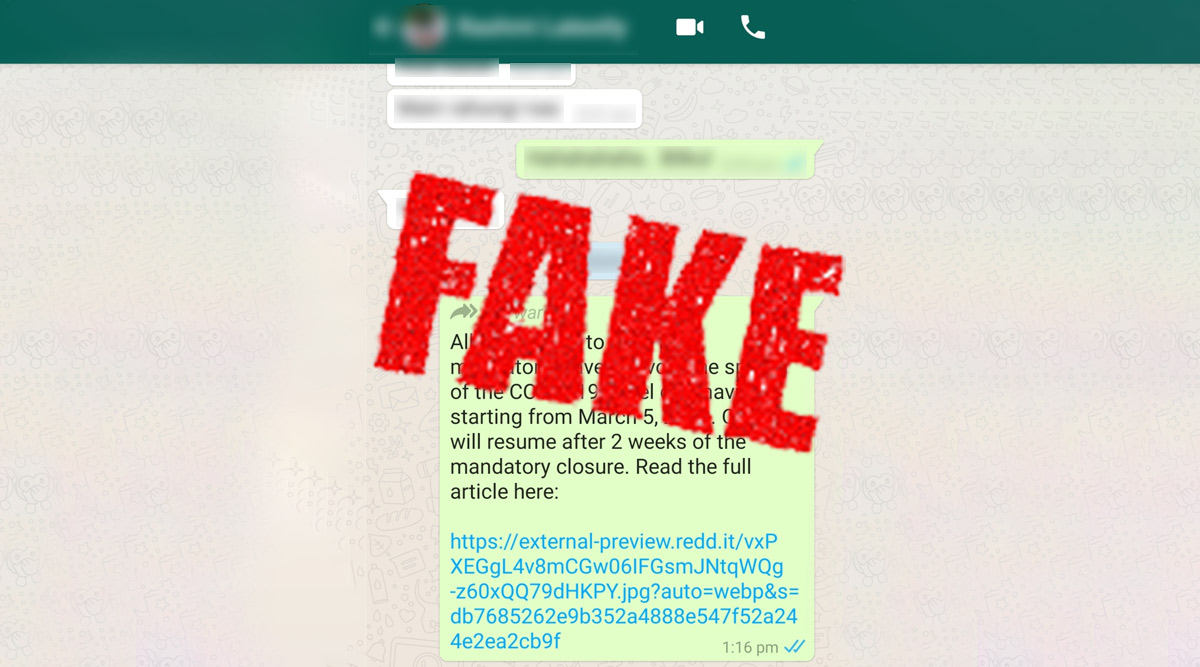 Coronavirus Hoax Message: Employees to Get Paid Leave From March 5? Viral WhatsApp Forward About COVID-19 Is Fake!