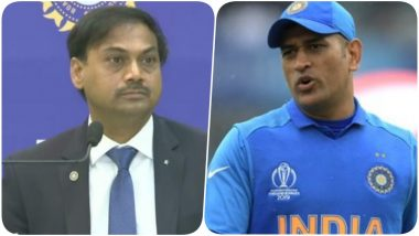 MSK Prasad Breaks his Silence on MS Dhoni's Retirement Says, 'He is Clear About His Future'