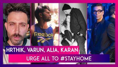 Hrithik Roshan Has A Request For Kids, Varun Dhawan, Karan Johar, Alia Bhatt Urge All To #StayHome