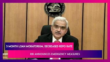 Reserve Bank Of India Governor Shaktikanta Das's Emergency Measures To Tackle COVID 19 Pandemic