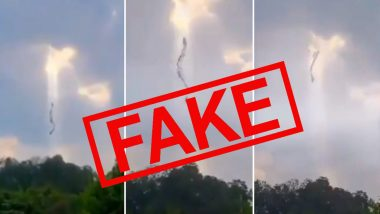 Fact Check: Video of Dragon-like Creature Disappearing in Sky is NOT 'Coronavirus Leaving China', Here's The Truth About Viral Clip