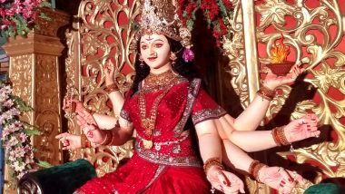 Durga Ashtami 2020 Wishes for Chaitra Navratri: WhatsApp Stickers, GIF Greetings, SMS, Images & Messages to Send to Family and Friends on Day Eight of Navratri