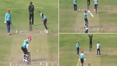 Rashid Khan Plays Bizarre Version of MS Dhoni's Helicopter Shot, Netizens Come up With Interesting Names for the Stroke (Watch Video)