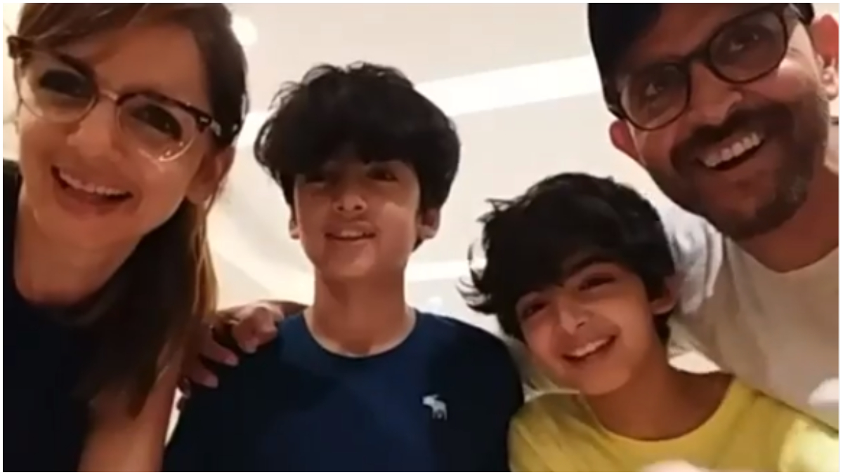Hrithik Roshan, Sussanne Celebrate Son Hrehaan's Birthday, Extended Family Joins over Video Call