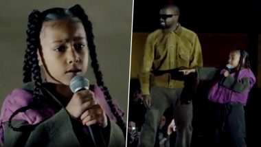 Kim Kardashian and Kanye's Daughter, North West Raps at the Yeezy Paris Fashion Week Show, Adorable Video Goes Viral