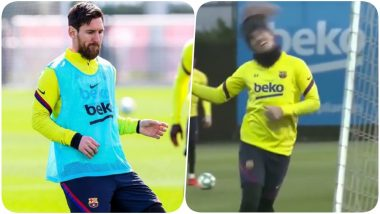 Lionel Messi Displays Crazy Skills, Antoine Griezmann Unleashes His Funny Side As Team Barcelona Sweats it Out Ahead of their Game Against Real Sociedad (Watch Video)
