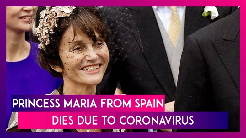 Princess Maria Of Spain, A Member Of The Royal House Of Bourbon-Parma, Dies Due To COVID 19