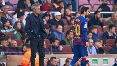 Lionel Messi Reportedly Wants Barcelona to Sack Quique Setien After 2-2 Draw Against Celta Vigo