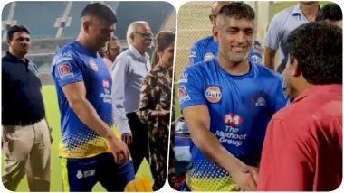 MS Dhoni Bids a Temporary Adieu to Chepauk Stadium After CSK Suspends Practice For IPL 2020 Due to Coronavirus (Watch Video)