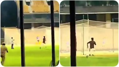 Fan Breaches Security to Meet MS Dhoni as he Sweats it Out for CSK Ahead of IPL 2020 (Watch Video)