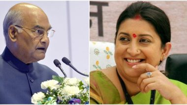 International Women's Day 2020: President Kovind, Smriti Irani and Other Political Leaders Extend Greetings to All Women on The Special Day