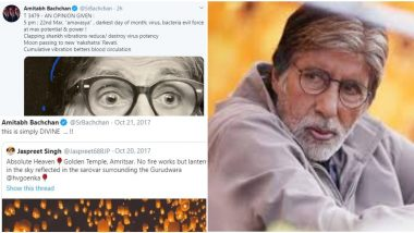 Amitabh Bachchan's Love for Fake News and Videos: From Morphed Golden Temple Picture to Coronavirus WhatsApp Forward, 5 Times Bollywood Legend Got Deceived By False Info!