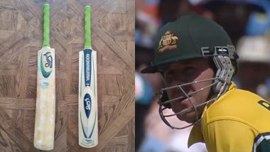 Ricky Ponting Shares Picture of Bat He Used During Australia vs India ICC Cricket World Cup 2003 Final As Former Australian Captain Self-Quarantines at Home