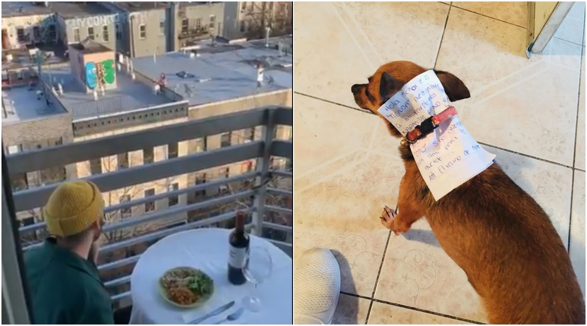 From Getting a Date Via Drone to Sending Pet Dog to Buy Things, Here's How People are Maintaining Social Distance Creatively During Coronavirus Lockdown (View Pics and Videos)