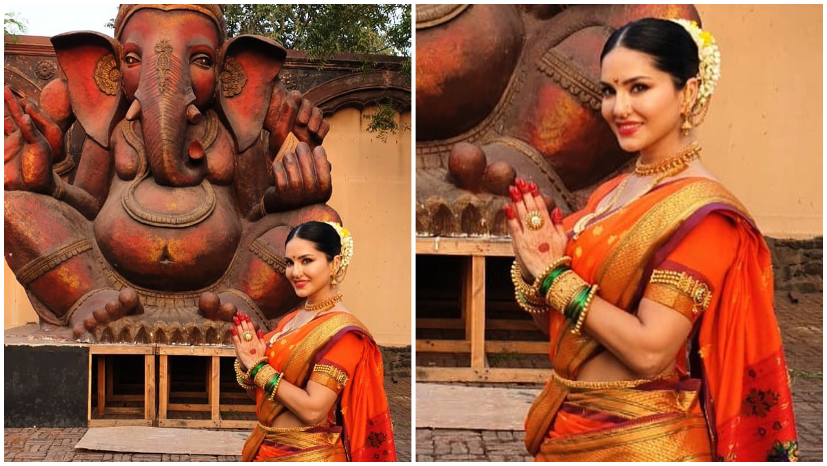Sunny Leone in a Saree Just Made Our Day With Her Gudi Padwa Wish (See Pic)