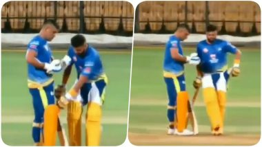 Suresh Raina's Gesture After Accidentally Stepping on MS Dhoni's Bat During Chennai Super Kings Training Session Will Make You Respect Him More! Watch Video