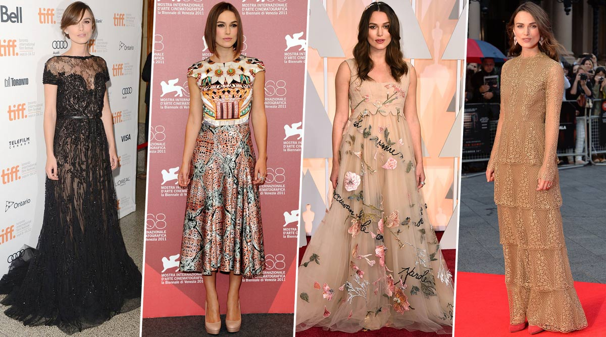 Keira Knightley Birthday Special: 7 Times When the 'Bend It Like Beckham' Actress Kicked Her Way into Our Hearts with her Phenomenal Red Carpet Choices (View Pics)