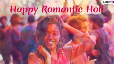 Holi 2020 Romantic Wishes For Husband and Wife: WhatsApp Stickers, Greetings & HD Images for Couples in Love to Celebrate the Festival of Colour
